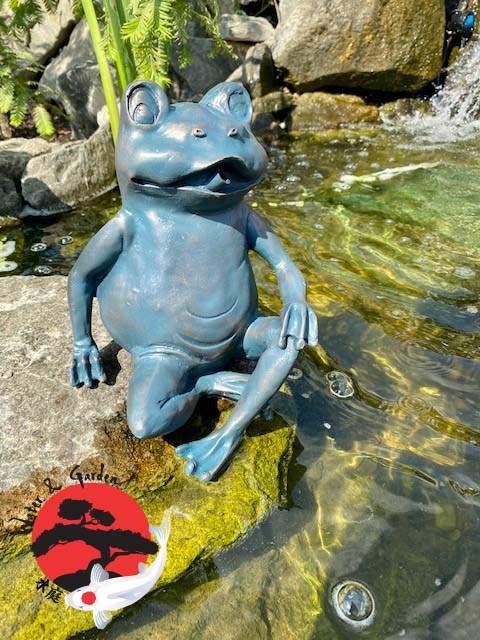 Ubbink Béka ülő 22 cm vízköpő figura
